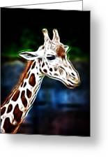 Giraffe Zoo Art Greeting Card