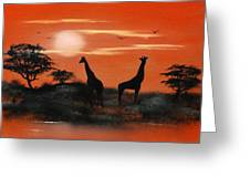 Serengeti Sunset Sold Greeting Card