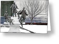 Girard And His Orphans Greeting Card