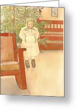 Girl And Rocking Chair Greeting Card