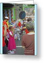 Girl At Carnival Social Occasion Celebrations Greeting Card