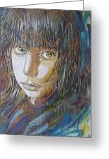 Girl By C215 Greeting Card