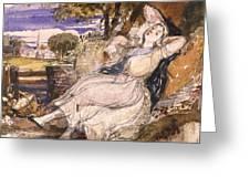 Girl Dreaming Greeting Card