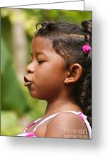 girl from Panama 3 Greeting Card