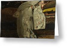 Girl In A Kimono Greeting Card