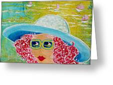 Girl In Sun Hat Greeting Card