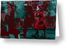 Girl In The Blood-stained Coat Greeting Card
