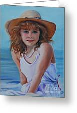 Girl In The Straw Hat Greeting Card
