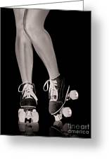 Girl Legs In Roller Skates Artistic Concept Greeting Card