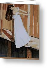 Girl On Dock Greeting Card