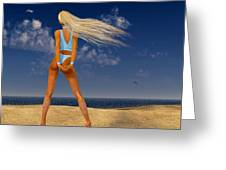 Girl On The Beach... Greeting Card