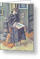 Girl Reading A Book Greeting Card