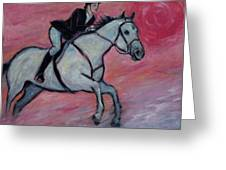 Girl Riding Her Horse I Greeting Card