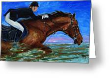 Girl Riding Her Horse II Greeting Card