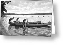 Girl Scout Canoe Test Greeting Card