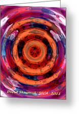 Girl Whirl Greeting Card