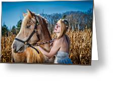 Girl With A Horse Greeting Card