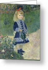Girl With A Watering Can Greeting Card