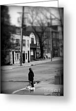 Girl With Dog - Somewhere In America Greeting Card