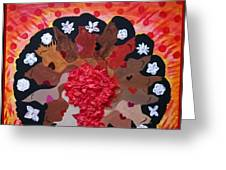 Girls On Fire Greeting Card