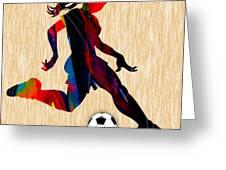 Girls Soccer Greeting Card