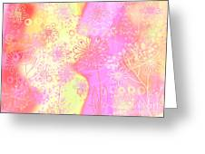 Girlz Only Abstract Greeting Card