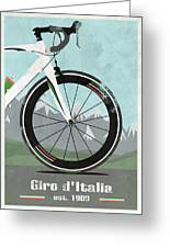 Giro D'italia Bike Greeting Card by Andy Scullion