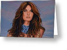 Gisele Bundchen Painting Greeting Card