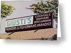Giusti's In The Sacramento San Joaquin Delta Greeting Card