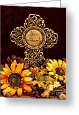 Give Thanks Cross Greeting Card