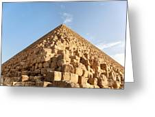 Giza Pyramid Detail Greeting Card by Jane Rix