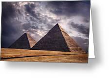 Giza Pyramids In Cairo Egypt Greeting Card