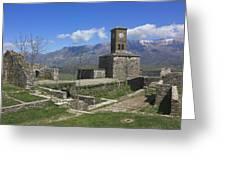 Gjirokaster Castle Albania  Greeting Card