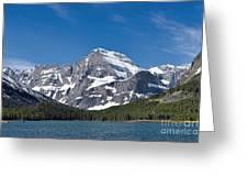 Glacier National Park Mountain Greeting Card