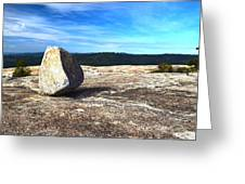 Glacial Erratic On Bald Rock Dome Greeting Card