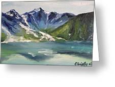 Glacial Lake Greeting Card
