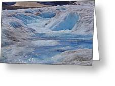 Glacial Meltwater 2 Greeting Card