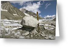 Glacial Moraine Boulder, French Alps Greeting Card