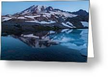 Glacial Rainier Morning Reflection Greeting Card