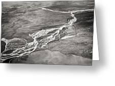 Glacial Rivers Greeting Card
