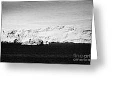 glacial shoreline with snow cap on anvers island and neumayer channel Antarctica Greeting Card