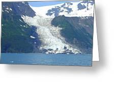 Glacial Spillover Greeting Card