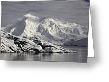 Glaciated Peaks Anvers Isl Antarctica Greeting Card