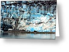 Glacier And Sediments Greeting Card