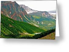 Glacier Area By Mount Edith Cavelle In Jasper Np-alberta Greeting Card