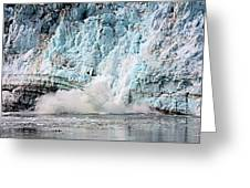 Glacier Calving Margerie Greeting Card