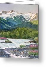 Glacier Creek Summer Evening Greeting Card