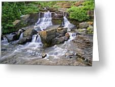 Glacier Falls Glacier National Park Greeting Card