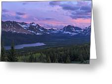 Glacier Glow Greeting Card