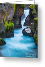 Glacier Gorge Greeting Card